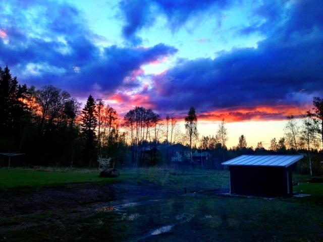 det var en fin himmel i skillet ikväll